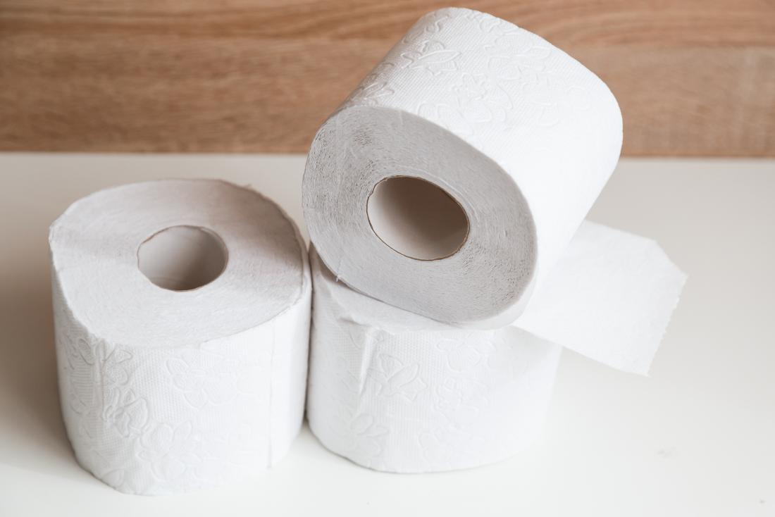 Pile of toilet roll for diarrhea during pregnancy