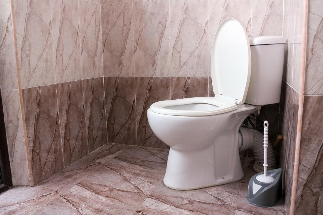 Toilet bowl in cubicle for foul smelling poop