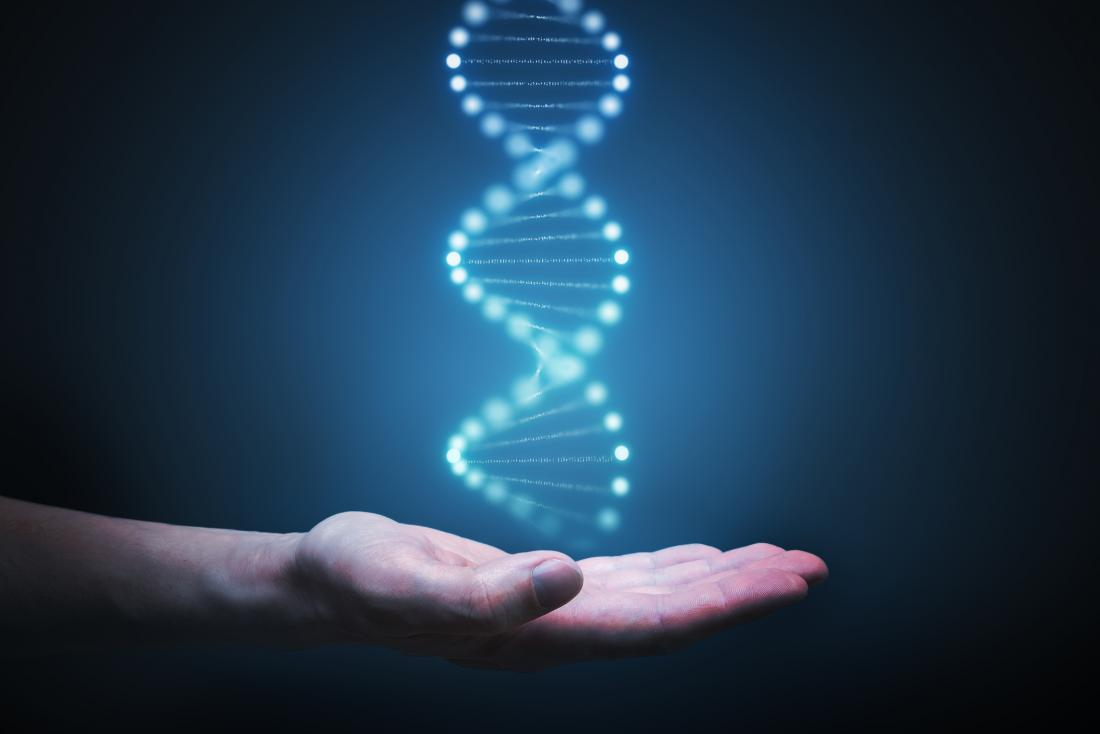 holding the DNA concept illustration