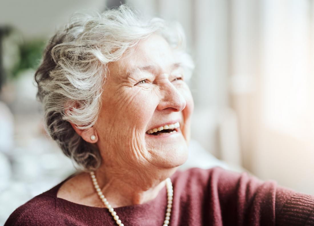 older woman laughing