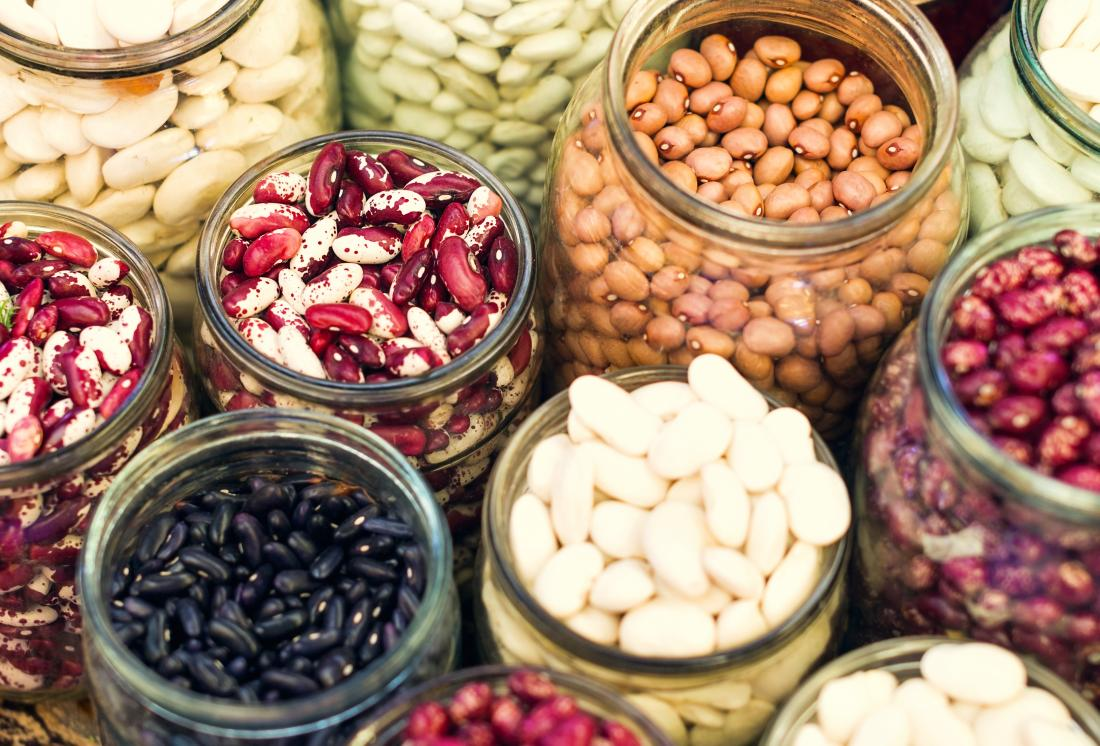 selection of beans in a jar which are good for diabetics