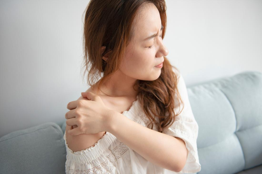 woman feeling in pain