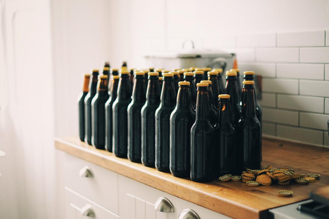 image of bottles lined up