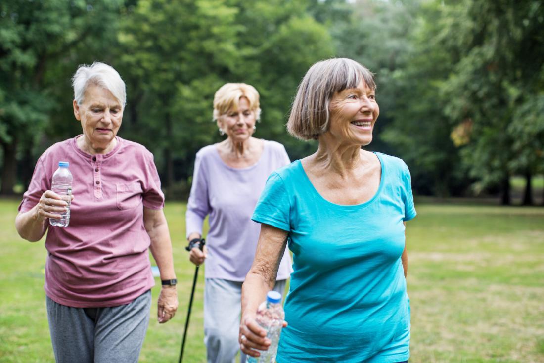 Calories burned walking seniors
