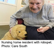 News Picture: 'Robopets' Bring Companionship, Calm to Nursing Home Residents