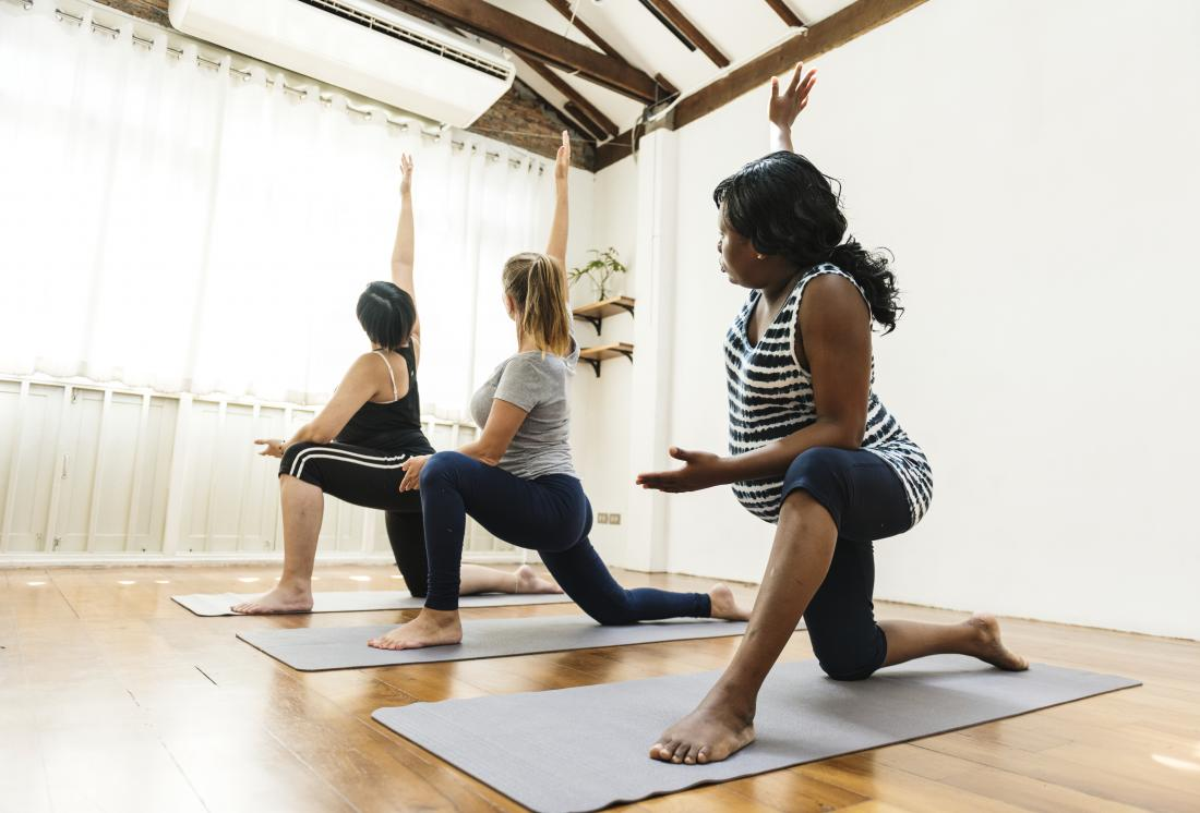 Pregnant women doing yoga and exercise for fitness