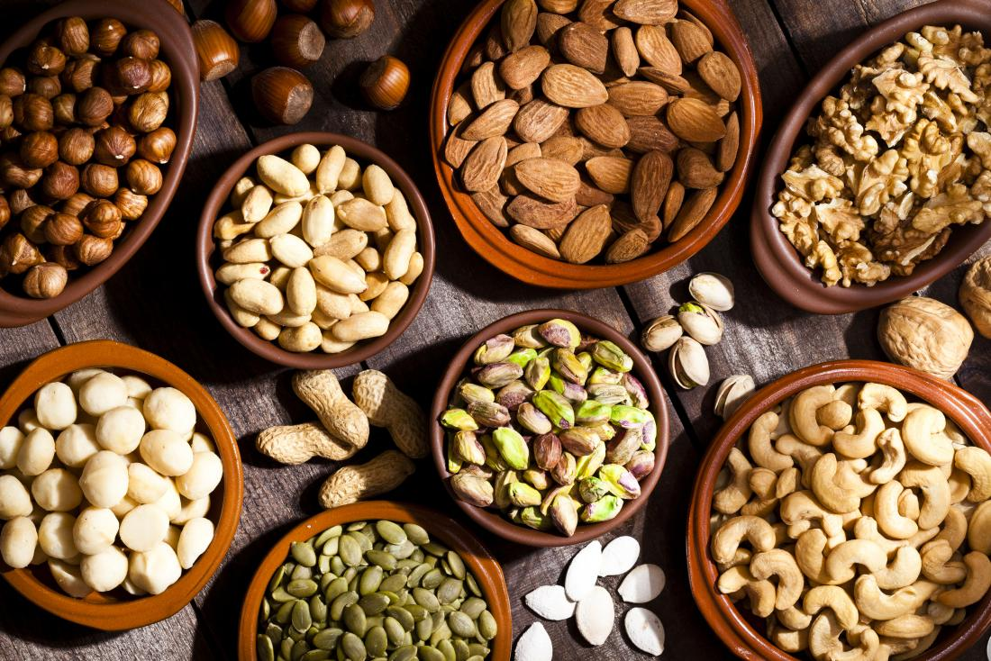 seeds and nuts which are high in arginine
