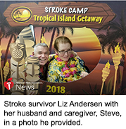 News Picture: AHA News: A Stroke at 50 Altered Woman's Life, But Not Her Family's Love