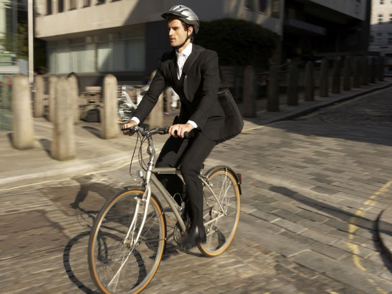 News Picture: Bike Lanes Do Help Keep Cyclists Safe