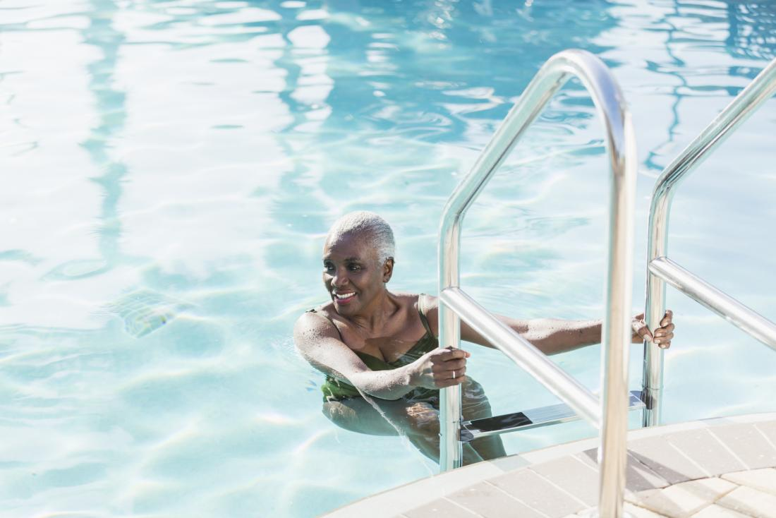 Swimming may help strengthen the lower back.