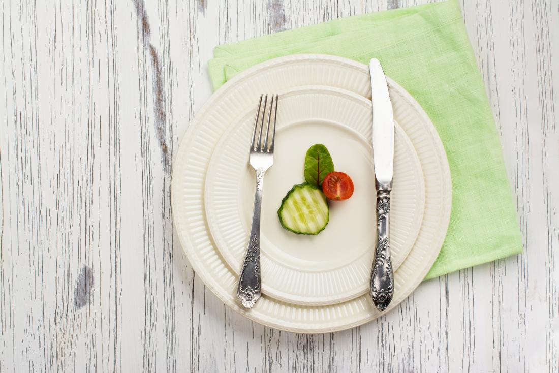 very few vegetables on a plate