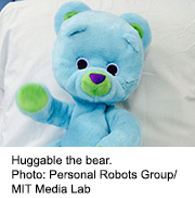 News Picture: Meet 'Huggable,' the Robot Bear Who's Helping Hospitalized Kids