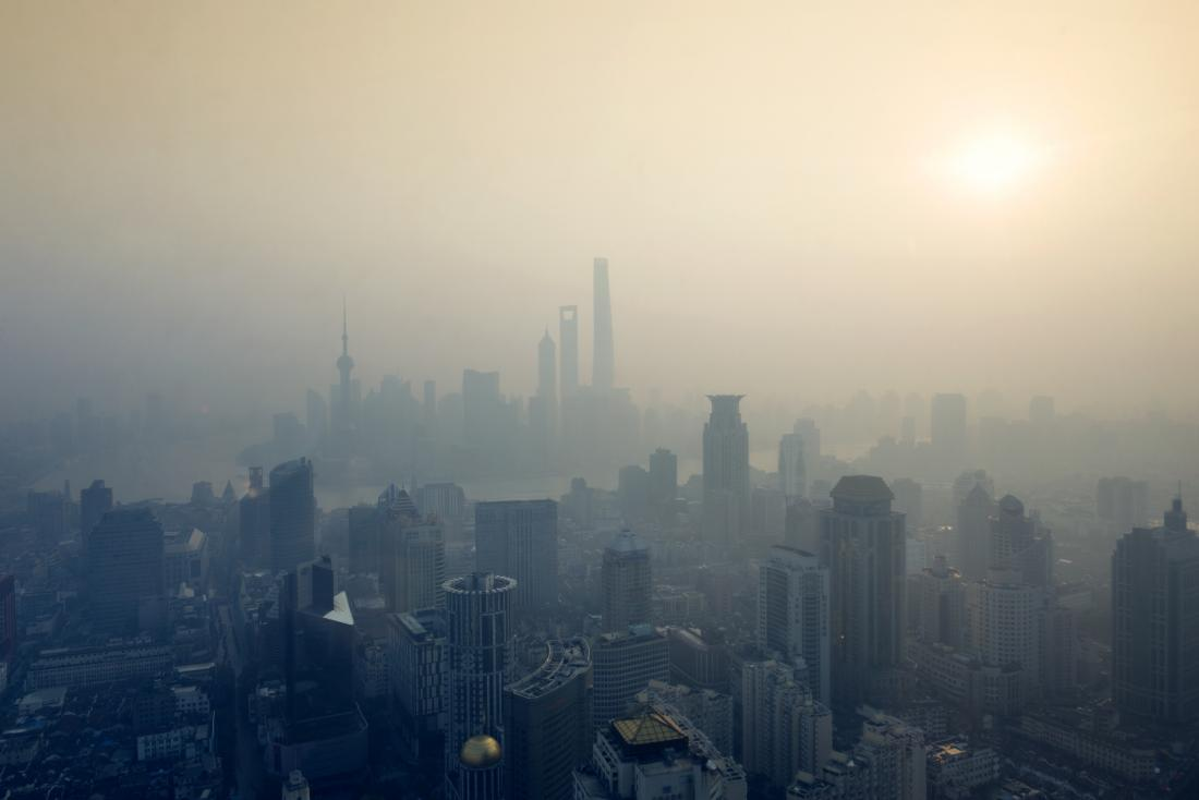 smog in a city