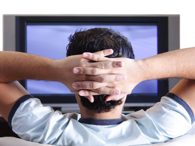 News Picture: TV Watching May Be Most Unhealthy Type of Sitting: Study