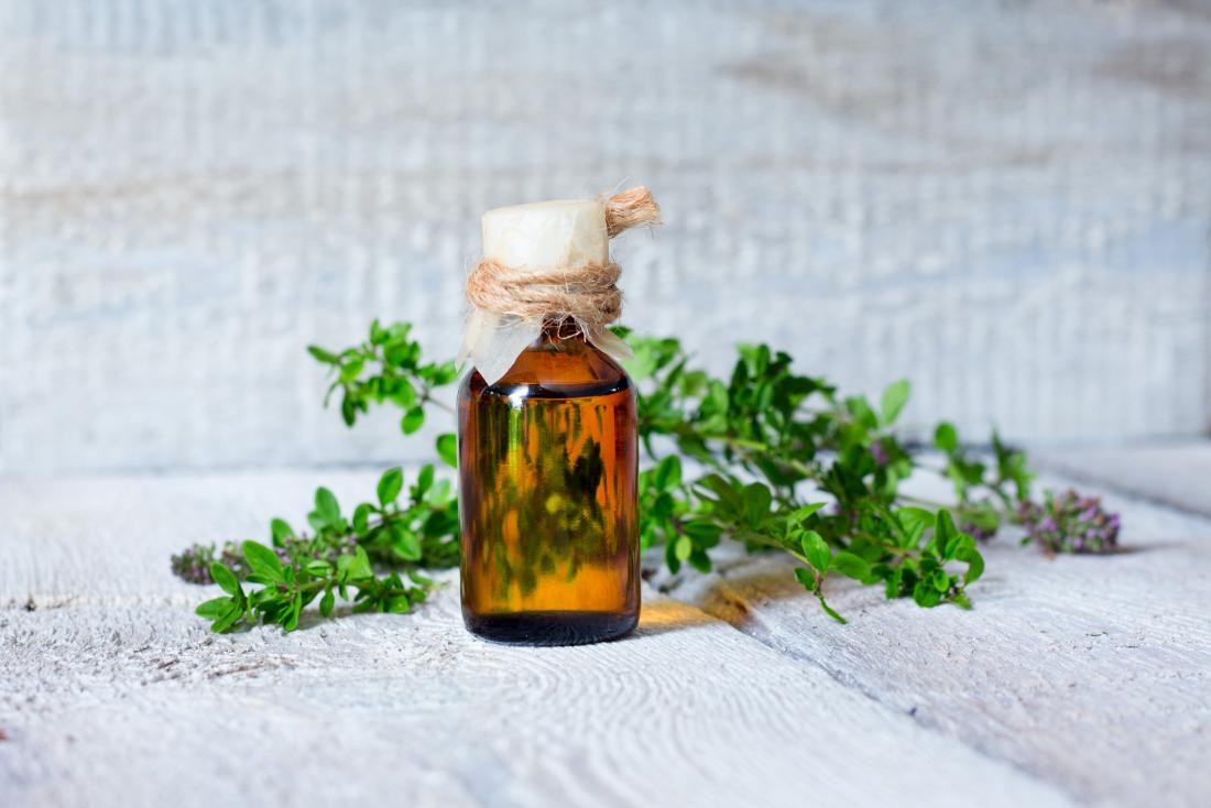 thyme essential oil which may help with shingles