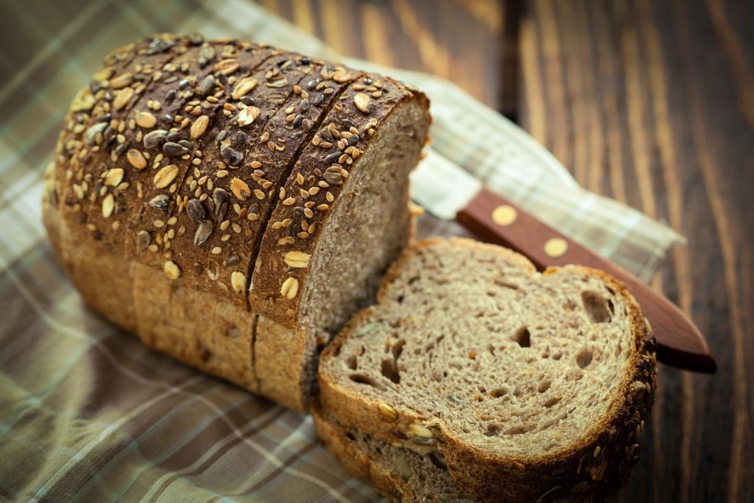 Wholegrain ezekiel bread with seeds