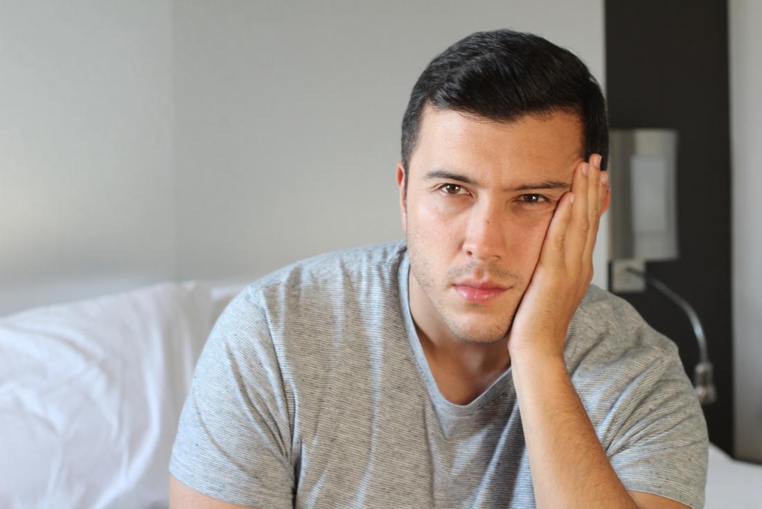 Man looking anxious