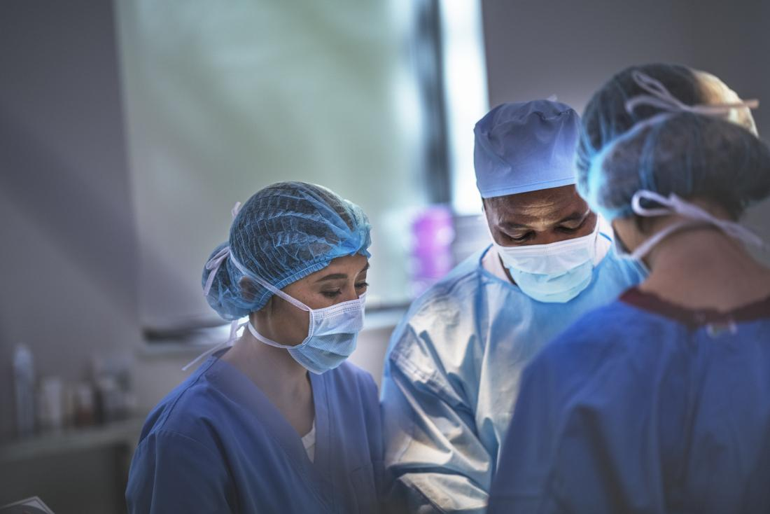 Surgeons performing Bullectomy operation or procedure