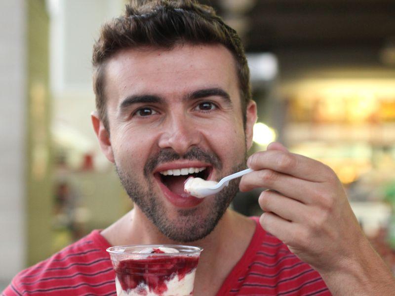 News Picture: Yogurt Might Help Men Avoid Colon Cancer: Study