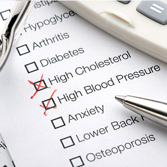 High cholesterol and blood pressure are risk factors for congestive heart failure.