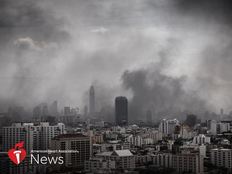 News Picture: AHA News: Air Pollution Means Pregnant Women Can't Breathe Easy