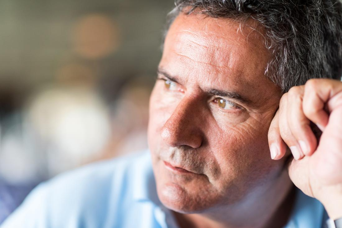 Pensive middle age man