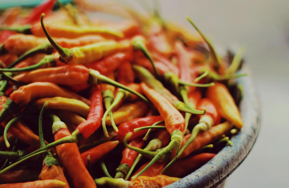 bowl of hot peppers