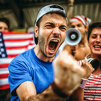 Yelling or screaming may cause laryngitis and sore throat.