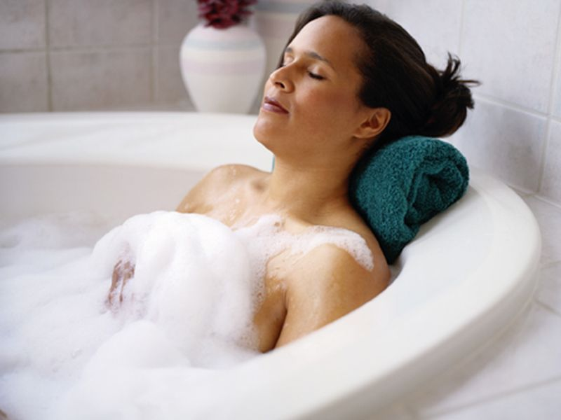 News Picture: Warm Bath Can Send You Off to a Sound Slumber, Study Finds