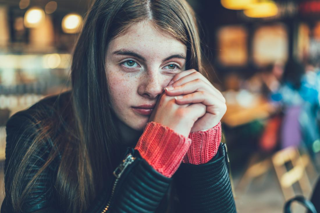 person looking and feeling bored