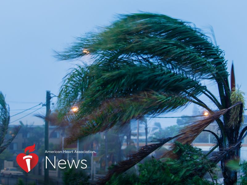 News Picture: AHA News: Hurricane Checklist: Batteries, Bottled Water – And A Plan for Heart Care