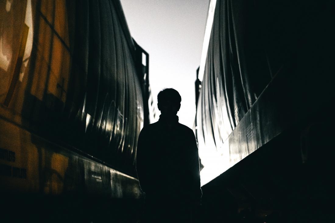 dark threatening silhouette