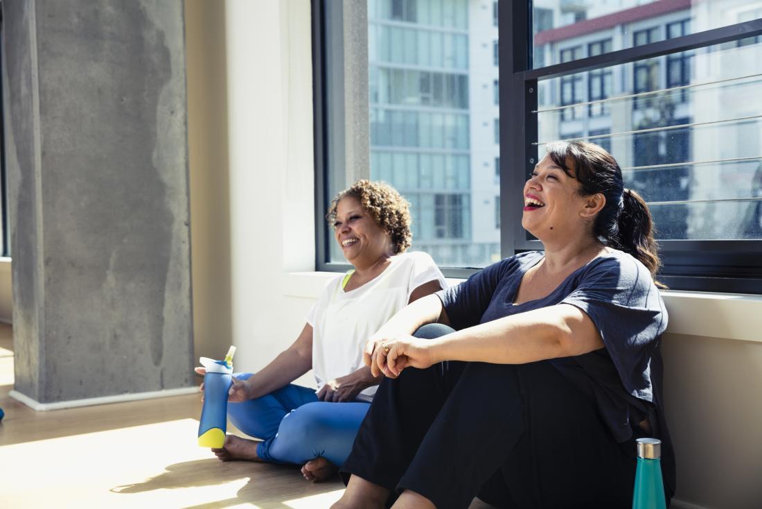 happy women chatting