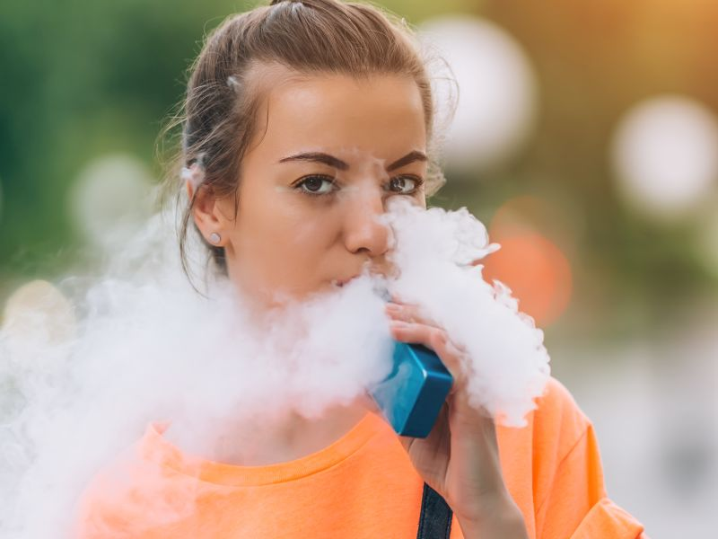 News Picture: Lots of Teens Are Breathing in Others' Vaping Fumes