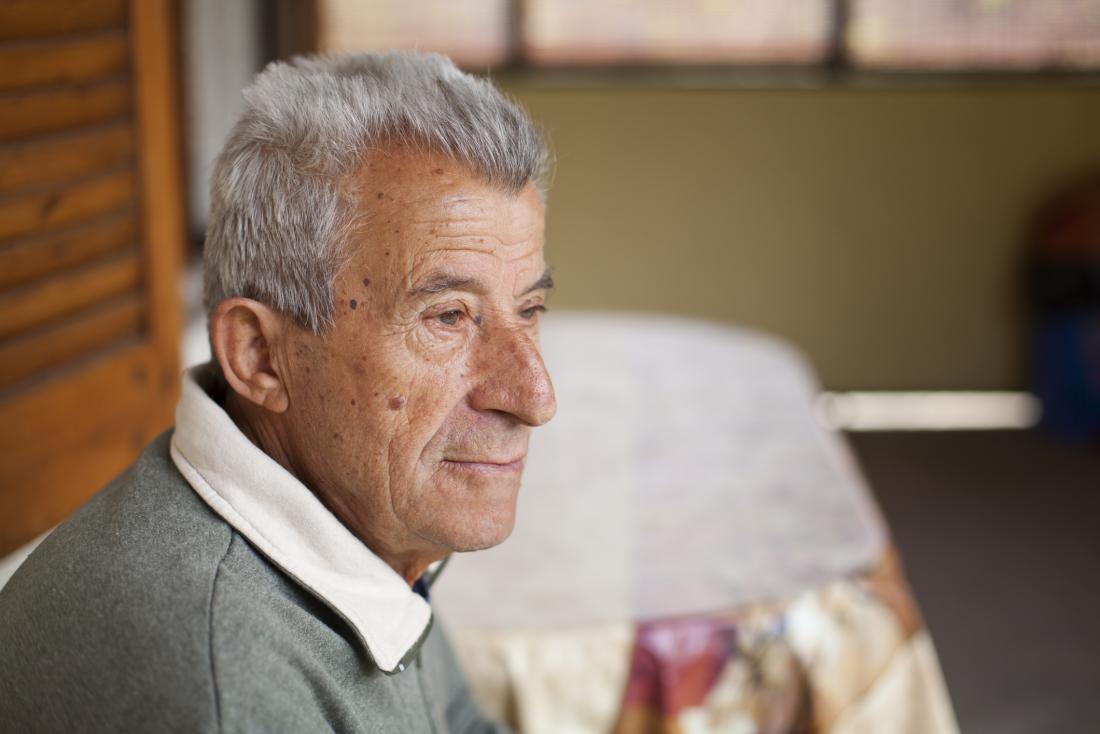 side portrait of older man