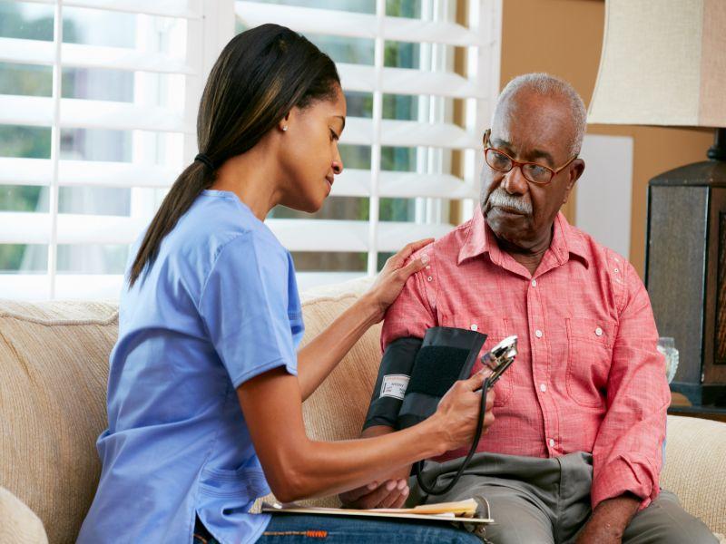 News Picture: Upping Seniors' Blood Pressure Meds After Hospital Can Sometimes Bring Danger