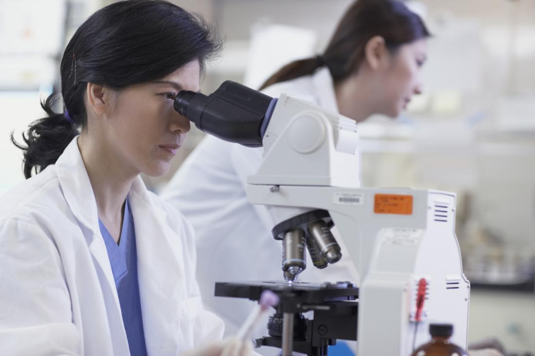 scientists conducting research in the lab