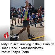 News Picture: AHA News: Now a 2-Time Survivor, Tedy Bruschi Still Tackling Stroke Awareness