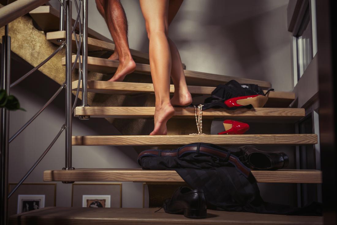 leg shot of people climbing stairs