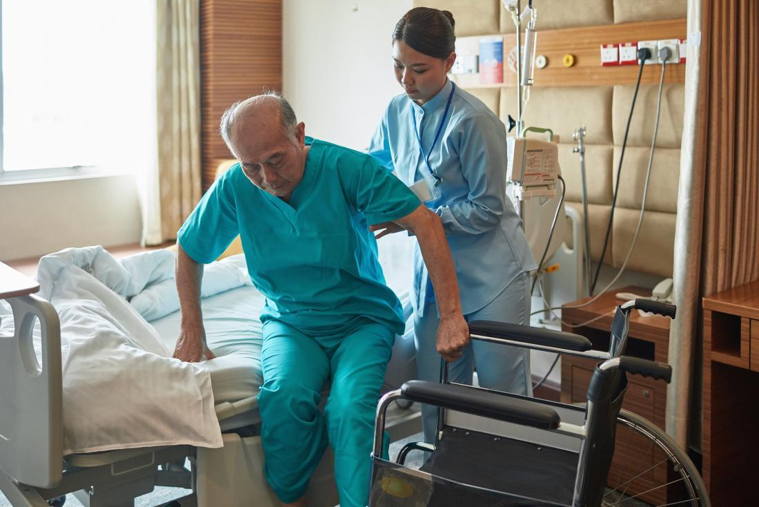 Older adult in hospital