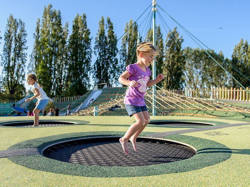 News Picture: Kids' Trampoline Injuries Take Another Bounce Upwards