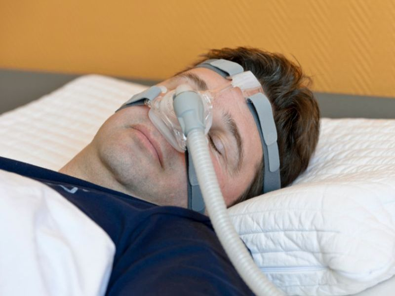 News Picture: Sleep Apnea Linked to Diabetic Eye Disease