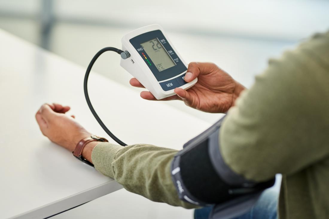 patient taking their blood pressure
