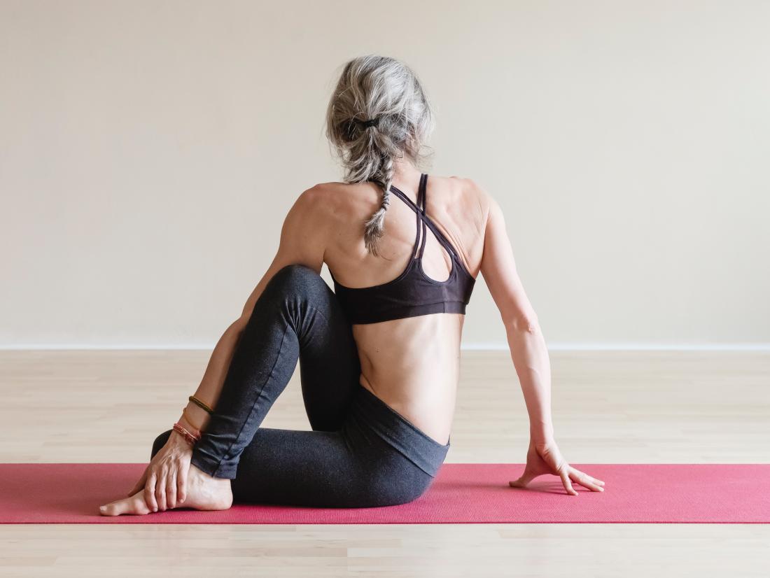 Half Spinal Twist yoga pose