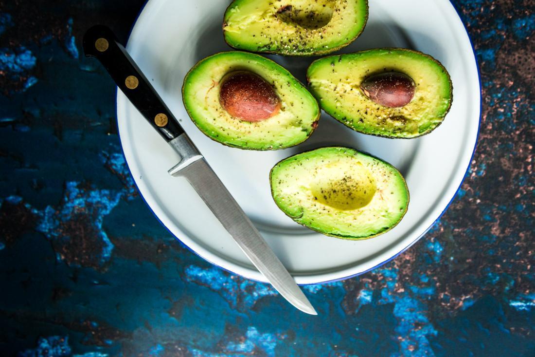 avocado on a plate