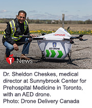 News Picture: AHA News: Drone-Delivered AEDs Fly a Step Closer to Saving Lives