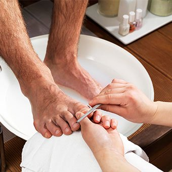 Ingrown toenails are commonly seen on the big toe.