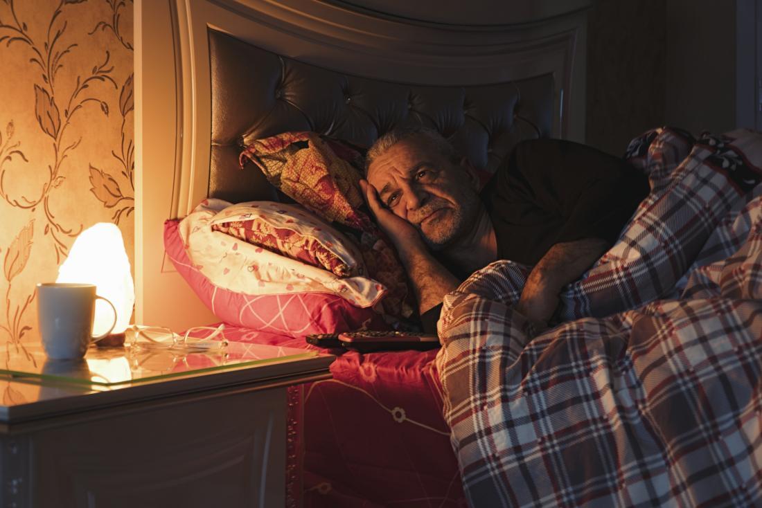 older man unable to sleep