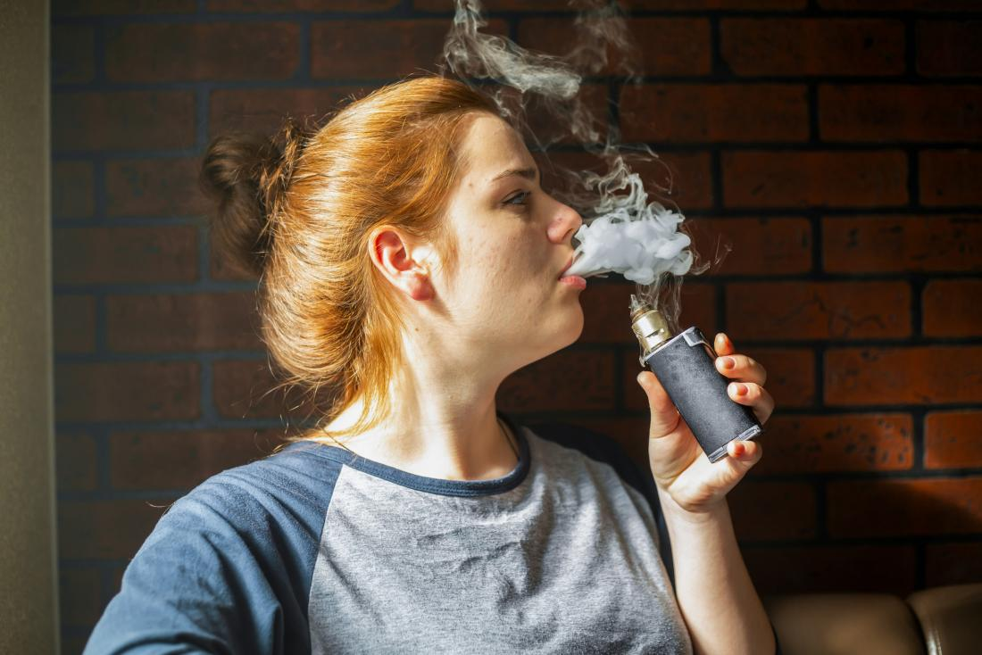 young person using electronic cigarette