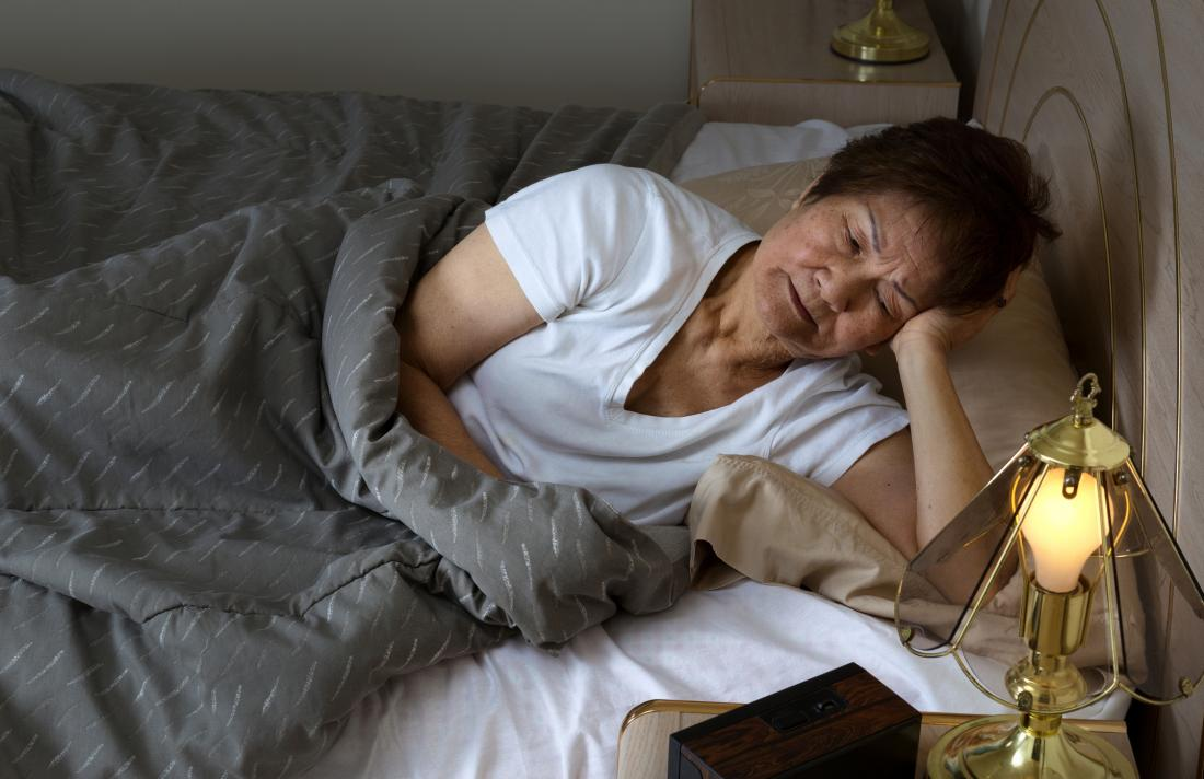 older woman with insomnia